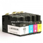 Lexmark 200XLBK,C,M,Y Ink Cartridge